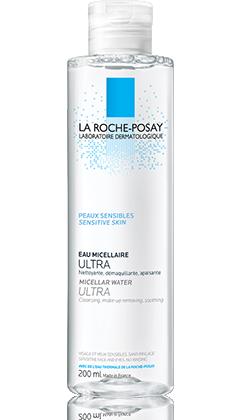 Agua Micelar Ultra Piel Sensibles para pieles con rosácea.